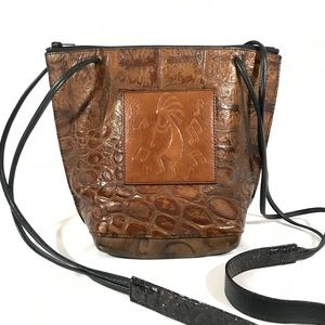 Handbags - Kokopelli Leather Animal Skin Crossbody Bag